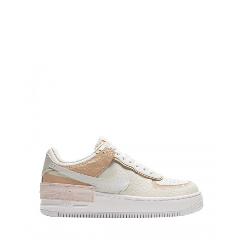 Nike Air Force 1 Shadow  (White/ brown/pink)