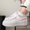 Nike Air Force 1 Shadow (White/Volt/Pink)